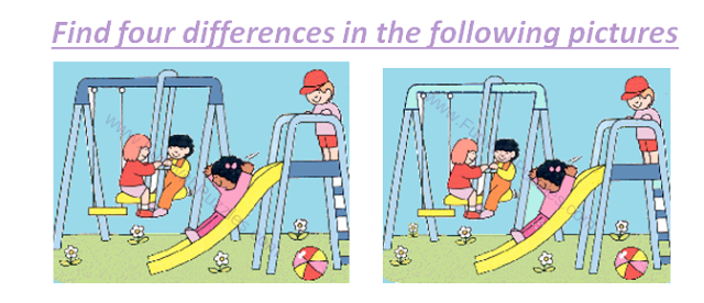 Spot The Differences Children Picture Puzzle