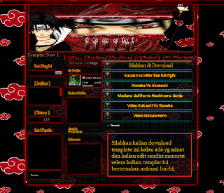 Template BLog Itachi Red Full | ANasz-BLogs