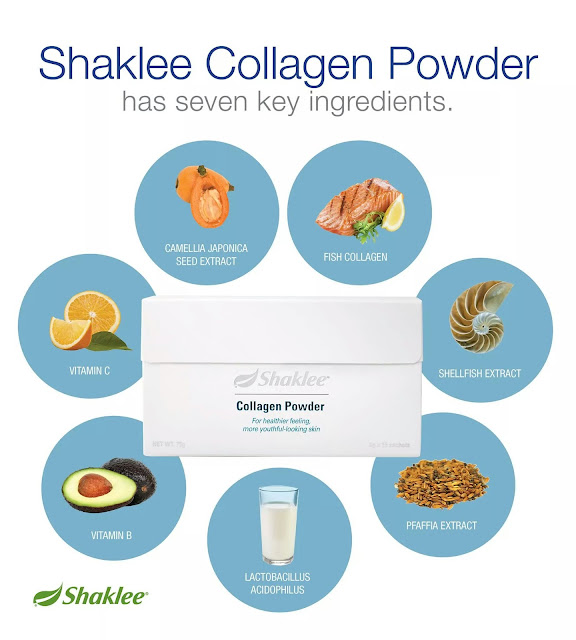 ramuan premium dalam shaklee collagen powder