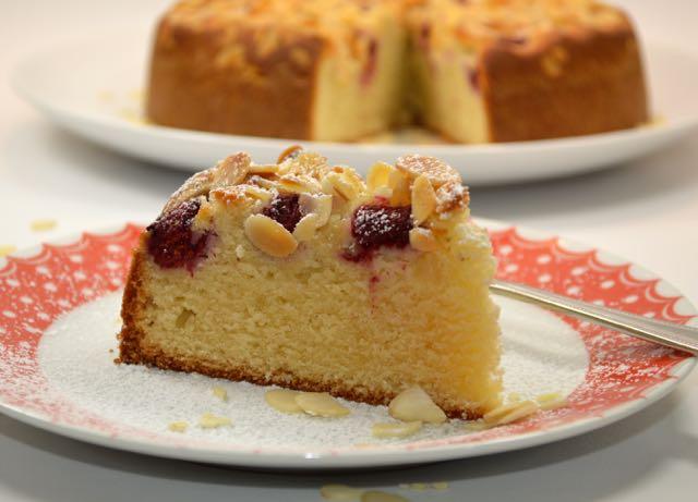 A Slice of Raspberry Bakewell Cake