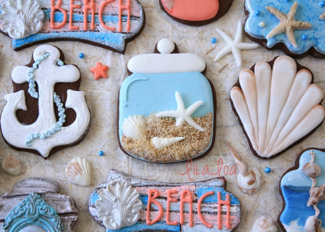 How to make decorated beach cookies -- tutorial