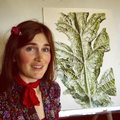 Botanical painting of an artichoke