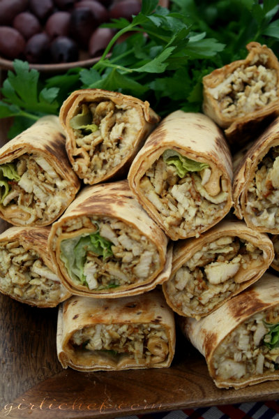 Spiced Shawarma Chicken Wraps