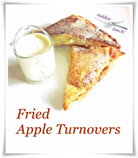 fried apple turnovers and cream