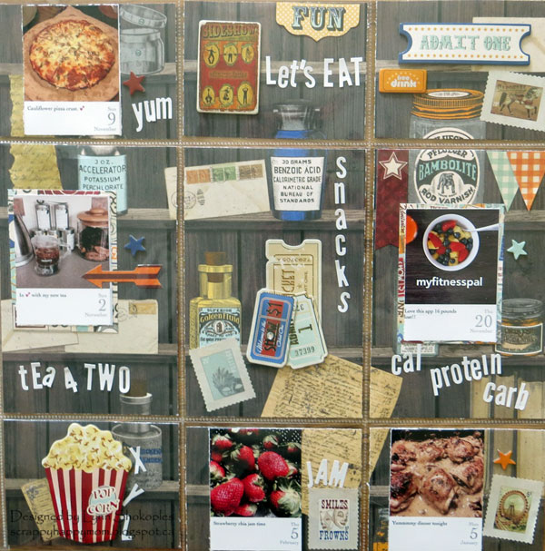 Misc.Me layout by Lynn Shokoples for BoBunny featuring the Carnival Collection and Tuxedo Alphabet Stickers