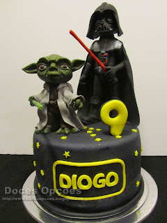 cake star wars yoda darth vader