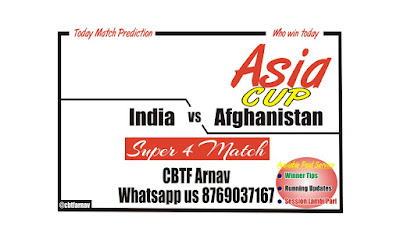 IND vs AFG Super 4 Match Reports Today results