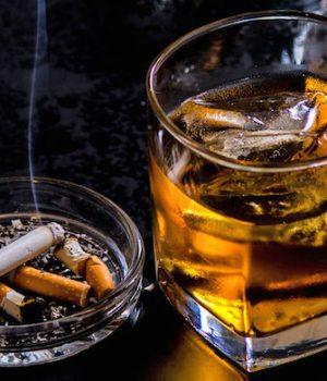 liquor and cigarettes
