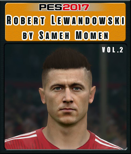 Robert Lewandowski Face Hair For PES 2017 (2019)