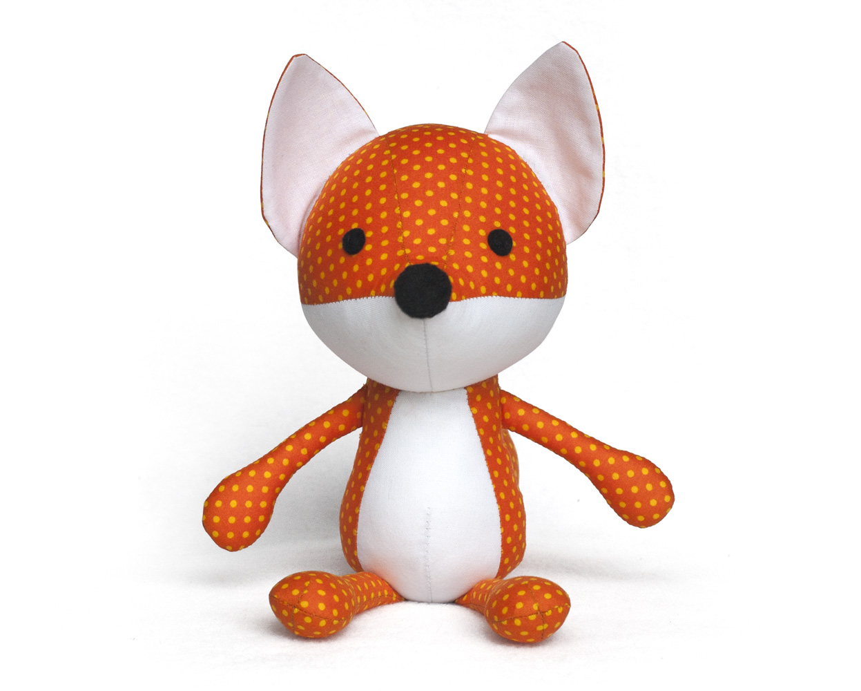 Toy Patterns by DIY Fluffies : fox softie sewing pattern ...