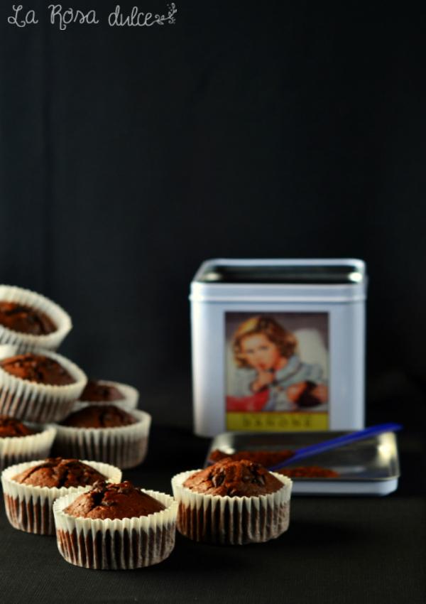 Magdalenas de chocolate y café sin lactosa