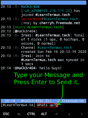 How to Chat with Friends using Termux