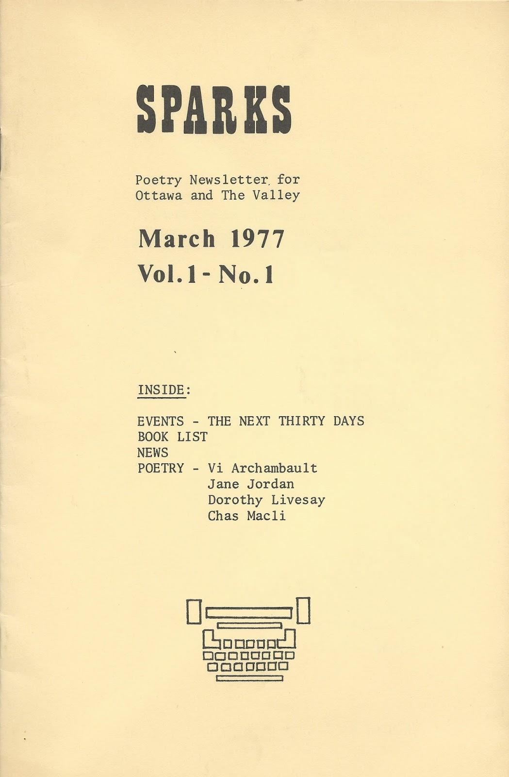 rob mclennan's blog: Sparks magazine (1977-1978