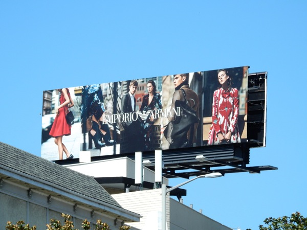Emporio Armani FW 2015 fashion billboard