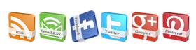 [Tips] - Tạo nút Social Icon Button xoay 360 độ bằng CSS cho Blogspot Blogger