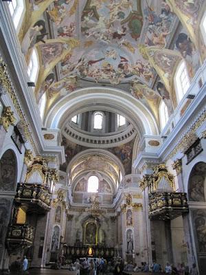 interior Catedral de San Nicolás, iglesia de liubliana, ljubljana church