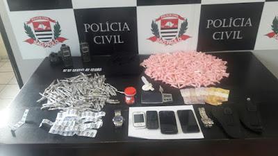 """""""Polícia Civil prende em flagrante traficante procurado pela justiça em  Guarujá  """""""