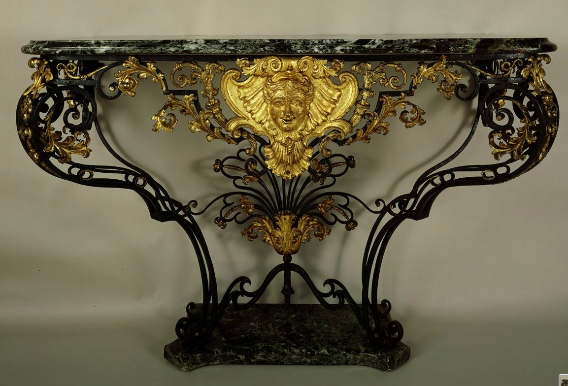 Dark And Light Forging Workbench Anonymous 18th Century French Console Table Of Forged