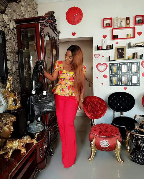 Empress Njamah gets photobombed by dog as she shows off her antiques