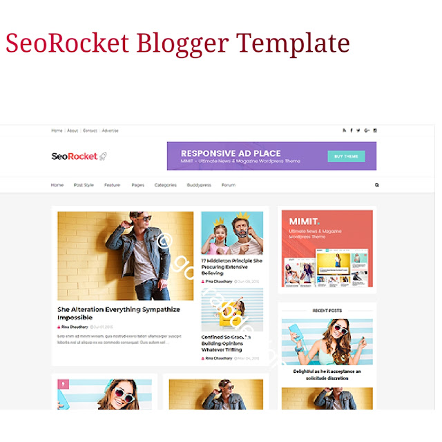 Seorocket elegant blogger template