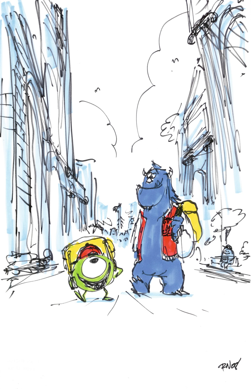 Additional Monsters University Concept Art Pixar Post