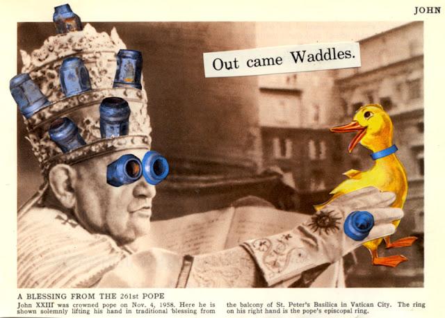 cut paper collage by Claudia Mazzie-Ballheim
