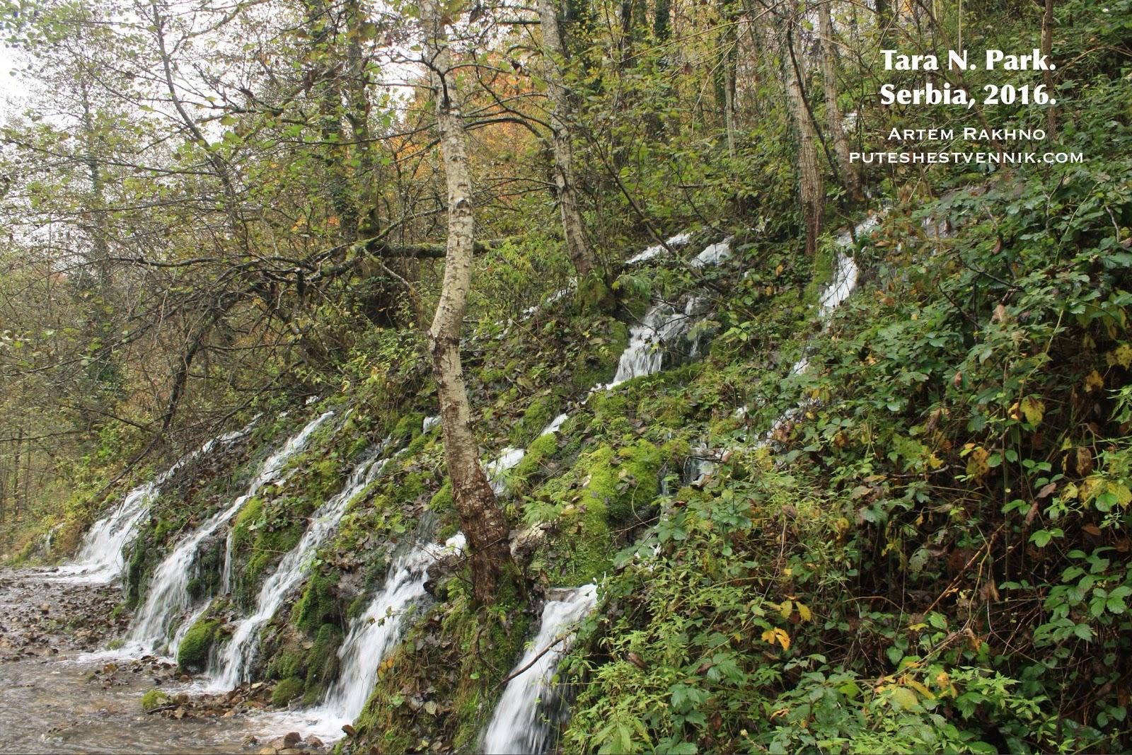 Водопад в национальном парке Тара