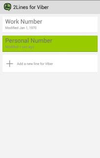 تطبيق 2Lines for Viber لتشغيل وفتح رقمين فايبر او اكثر على جهاز واحد