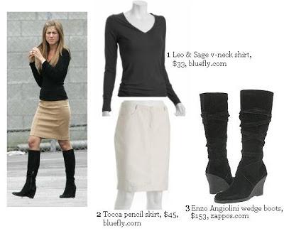 Jennifer Aniston Wedge Boots Ville Du Muy