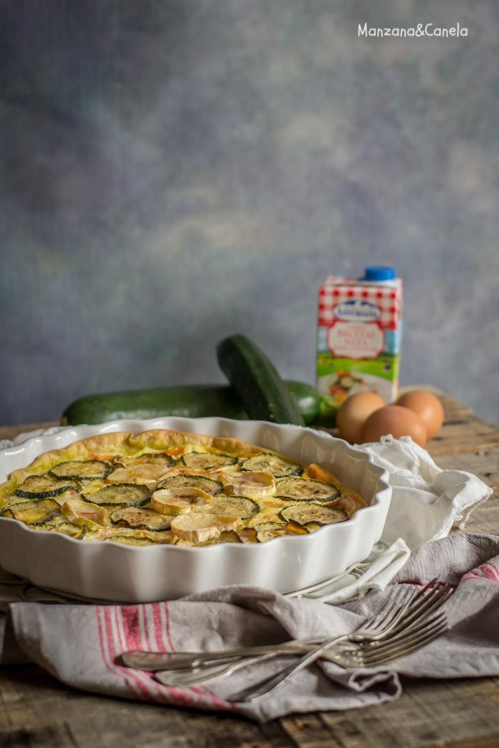 Manzana canela quiche de calabac n bacon y queso de for Cocinar queso de cabra