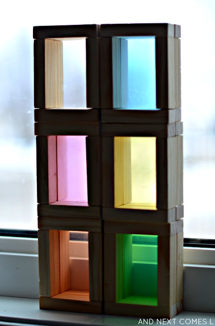 DIY color blocks tutorial - made from dollar store items for only $3 from And Next Comes L