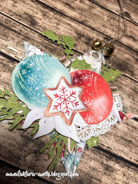 bombki z papieru do scrapbookingu -Christmas Stories