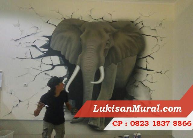 Mural Street Art Hitam Putih