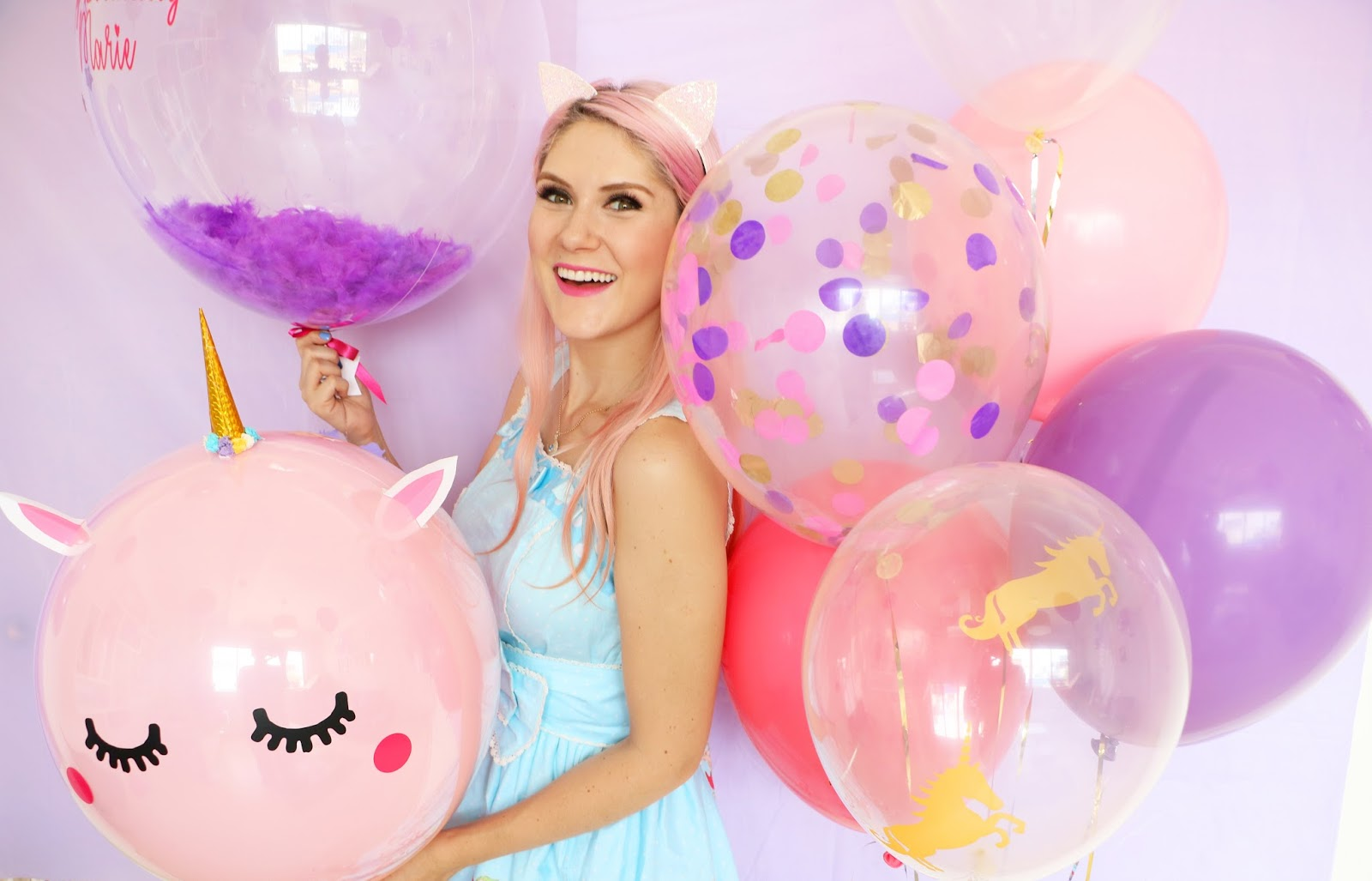 Adorable Pastel Unicorn Balloons