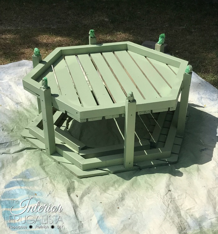 Stained Outdoor Furniture