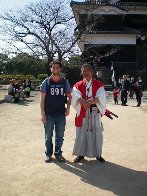 Samurai en el castillo de Kumamoto