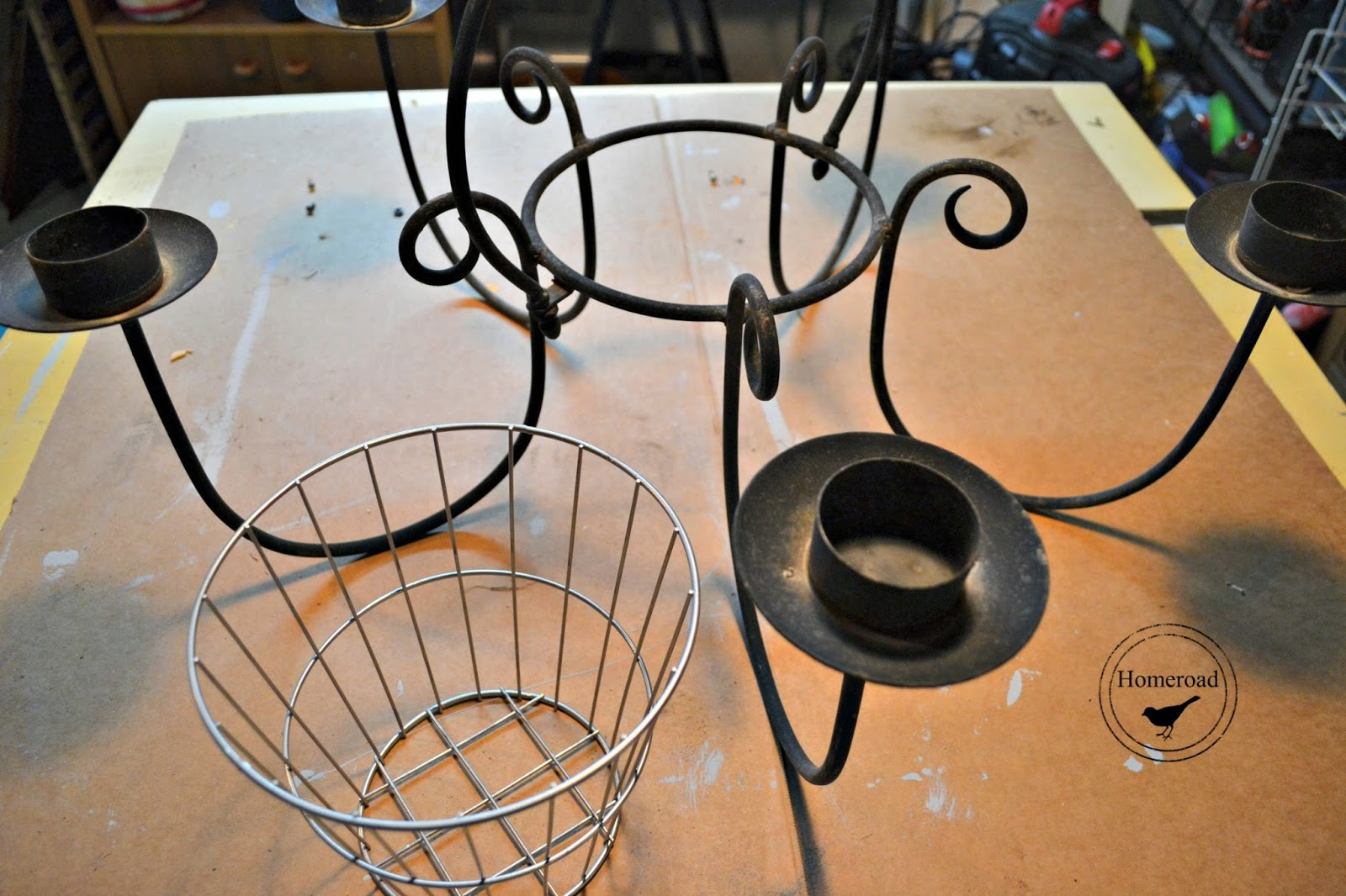 parts for making the chandelier