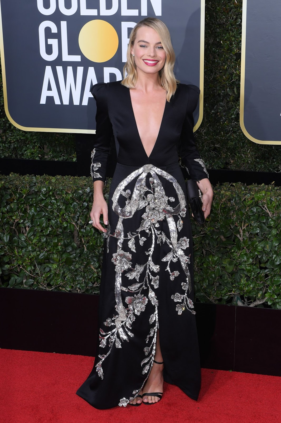 Margot Robbie on the Red Carpet at Golden Globe Awards