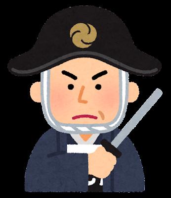 長谷川平蔵の似顔絵イラスト