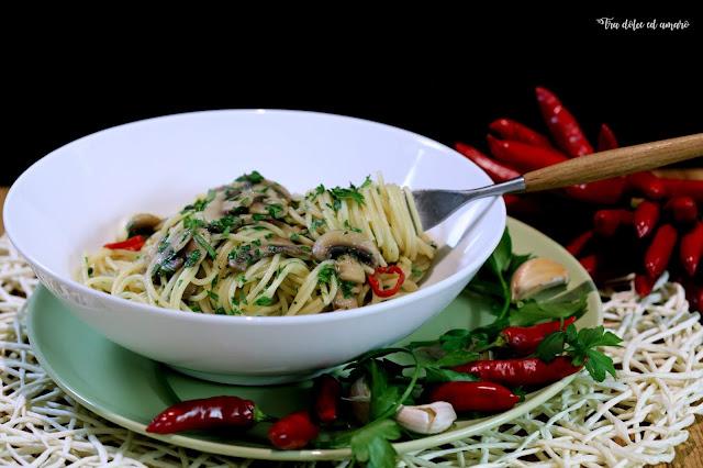 Spaghettini ai funghi - oder auch: Wie aus Muscheln Pilze wurden