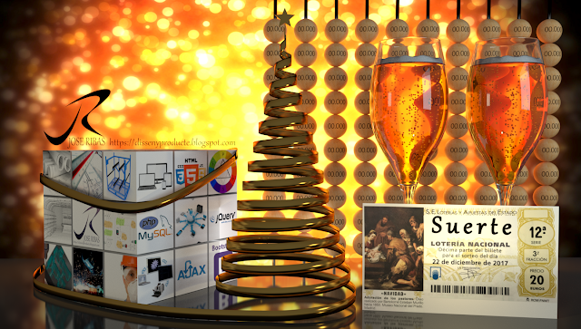 Imagen Publicitaria Navidad Loteria Renderización