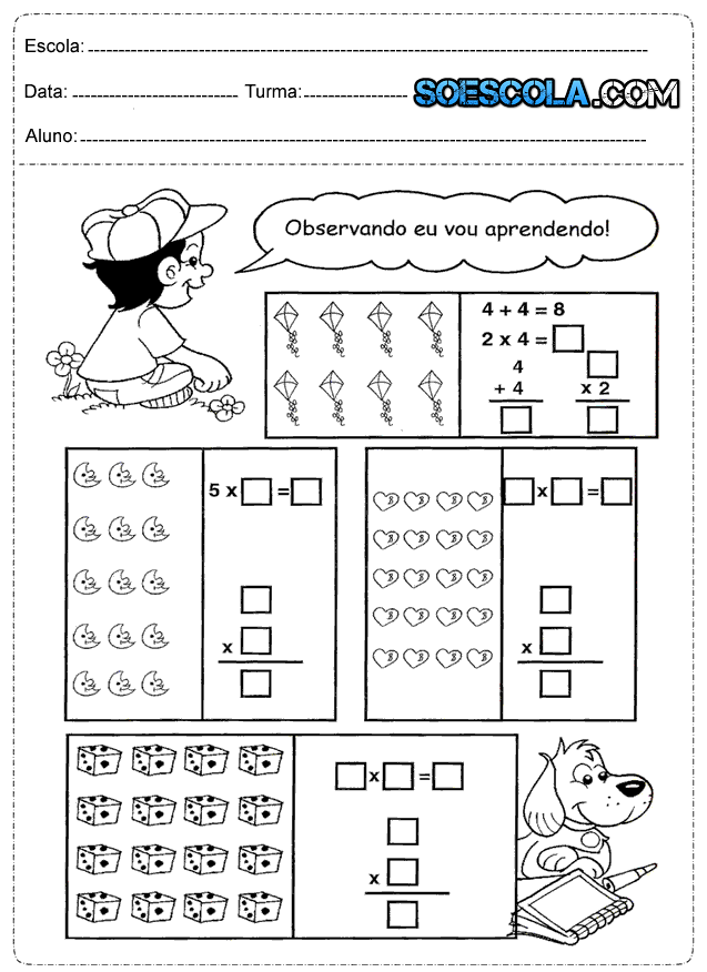 Atividades De Matemática Prontas Para Imprimir Só Escola