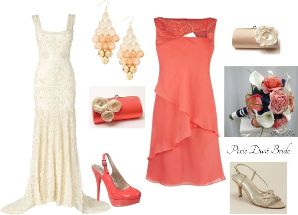 Wedding Style Champagne and Coral  Pixie Dust Bride