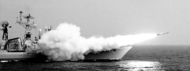 INS Nirghat firing an OSA missile