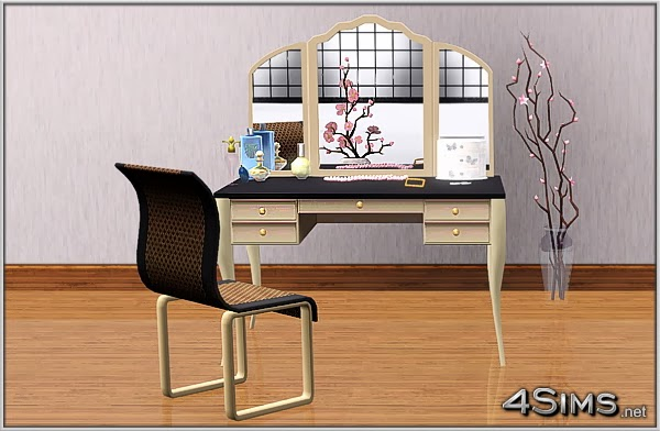 My Sims 3 Blog Makeup Vanity Plus Curved Chair By Mirel