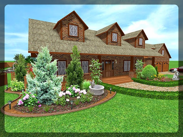 3D Plan Home Garden Design Ideas 1