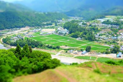 日岐・白日スカイスポーツ公園からみた生坂村の田園風景