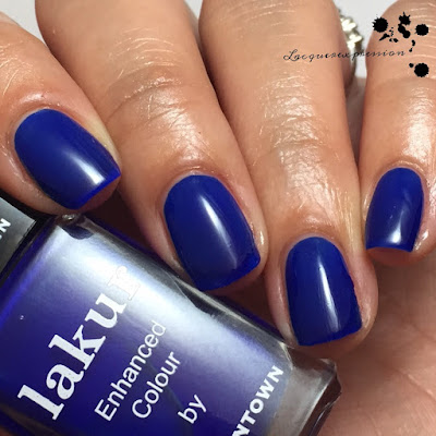 Swatch of beau of the city nail polish by Lakur Londontown