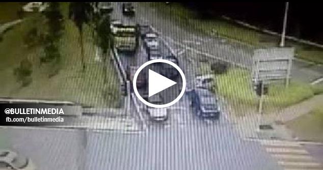 [VIDEO] Pemandu Wanita Biadab Cuba Melanggar Pemilik Kereta Yang Di Langgar