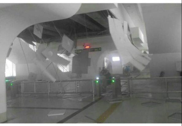 Dibangun Kontraktor China, Atap Stasiun LRT Palembang Rontok Dihantam Badai